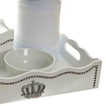Kit Higiene Com Capa Fantasia Strass E Corôa