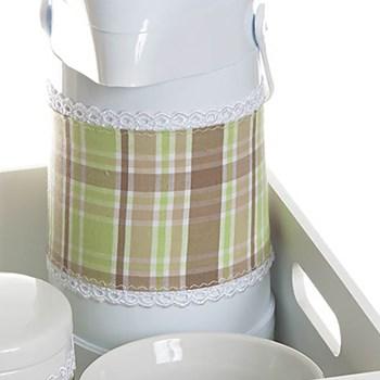 Kit Higiene Com Porcelanas E Capa Bandeja Lisa