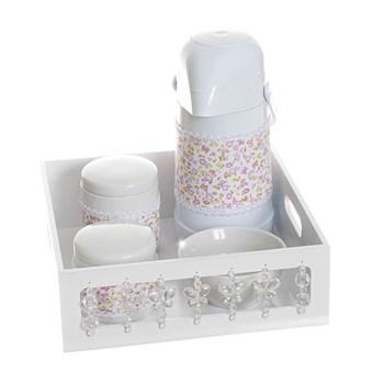 Kit Higiene Com Porcelanas E Capa Borboleta Transparente