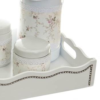 Kit Higiene Com Porcelanas E Capa Fantasia Strass