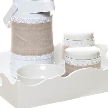 Kit Higiene Com Porcelanas E Capa Ondulado