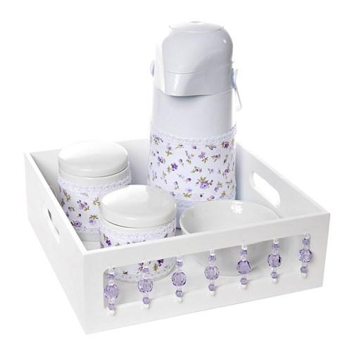 Kit Higiene com Porcelanas E Capa Pedra Lilás