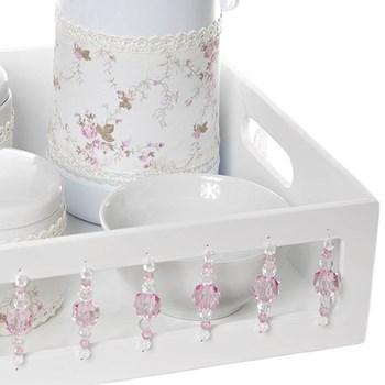 Kit Higiene Com Porcelanas E Capa Pedra Rosa