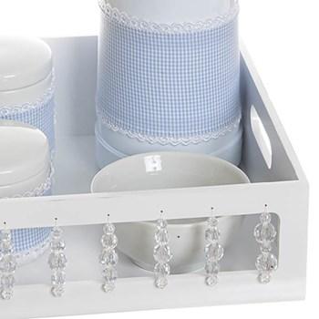 Kit Higiene Com Porcelanas E Capa Pedra Transparente