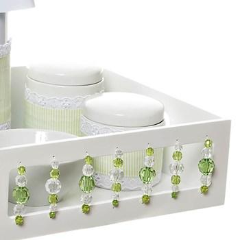 Kit Higiene Com Porcelanas E Capa Pedra Verde
