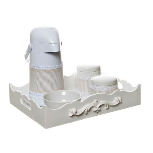 Kit Higiene Com Porcelanas E Capa Resina Arabesco