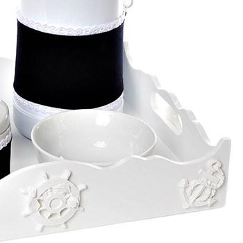 Kit Higiene Com Porcelanas E Capa Resina Marinheiro