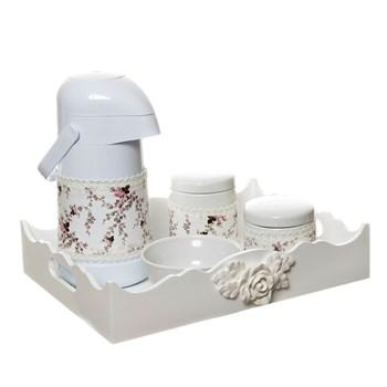 Kit Higiene Com Porcelanas E Capa Resina Rosa Grande