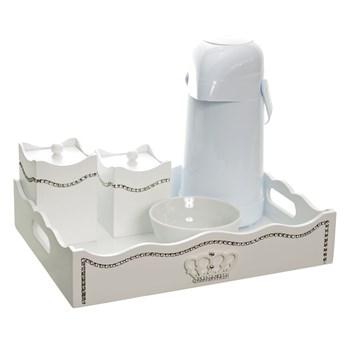 Kit Higiene Fantasia Strass Corôa Madeira