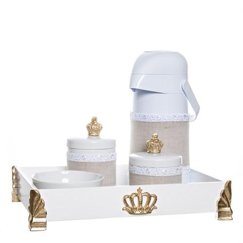 Kit Higiene Gold Com 5 Peças E Capa