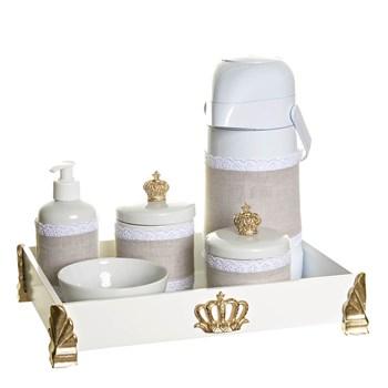 Kit Higiene Gold Com 6 Peças E Capa