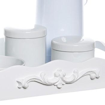 Kit Higiene Resina Arabesco Com Porta Álcool-Gel