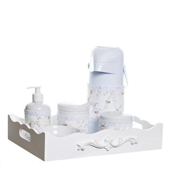 Kit Higiene Resina Arabesco Com Porta Álcool-Gel E Capa