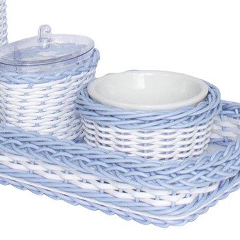 Kit Higiene Retangular Vime Azul