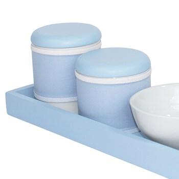 Kit Higiene Slim Azul Capa Azul Bebê