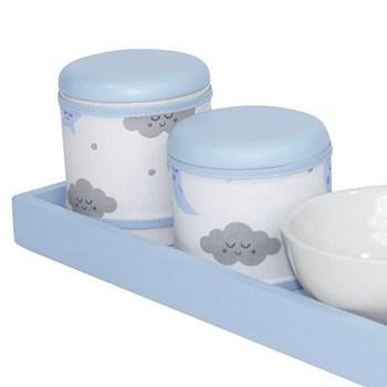 Kit Higiene Slim Azul Capa Chuva De Amor Azul