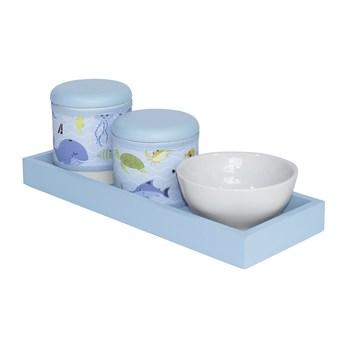 Kit Higiene Slim Azul Capa Fundo Do Mar