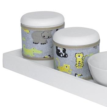 Kit Higiene Slim Branco Capa Safári