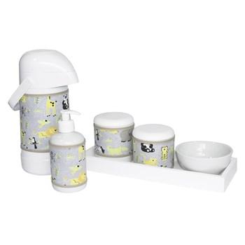 Kit Higiene Slim Branco Garrafa Grande Capa Safári