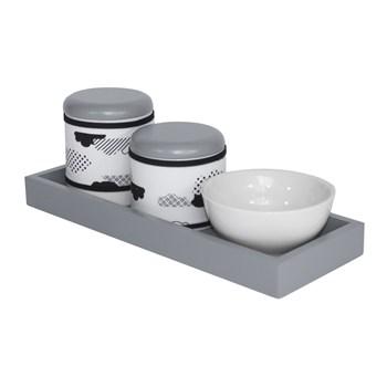 Kit Higiene Slim Cinza Capa Nuvem Black