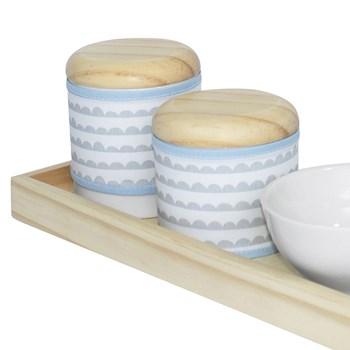 Kit Higiene Slim Pinus Capa Ondinha Azul