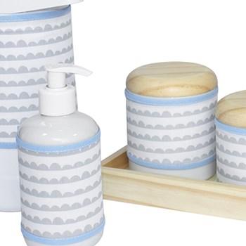 Kit Higiene Slim Pinus Garrafa Grande Capa Ondinha Azul