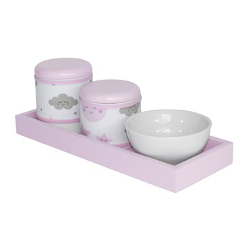 Kit Higiene Slim Rosa Capa Chuva De Amor Rosa