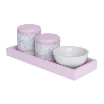 Kit Higiene Slim Rosa Capa Jardim Rosa
