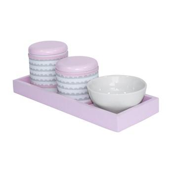 Kit Higiene Slim Rosa Capa Ondinha Rosa