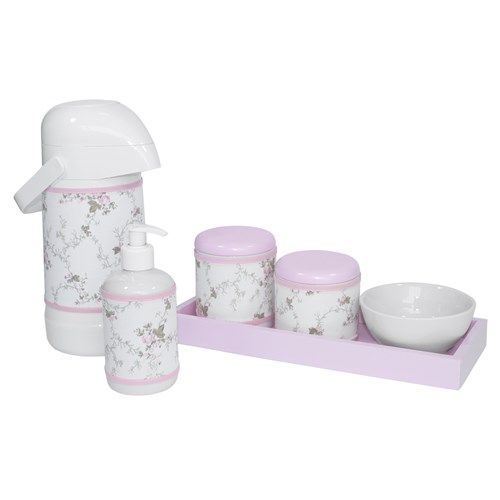 Kit Higiene Slim Rosa Garrafa Grande Capa Rosa Provençal