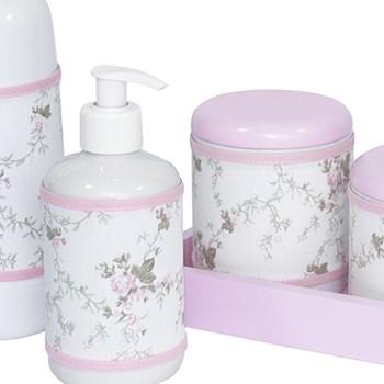 Kit Higiene Slim Rosa Garrafa Pequena Capa Rosa Provençal