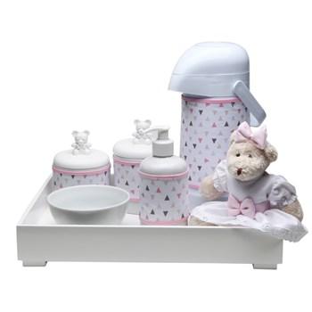 Kit Higiene Toys Claro Ursa Rosa