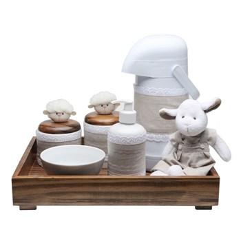 Kit Higiene Toys Escuro Carneirinho Bege