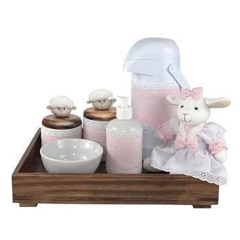 Kit Higiene Toys Escuro Ovelha Rosa