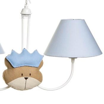 Lustre 2L Simples Com 2 Caras De Urso Príncipe