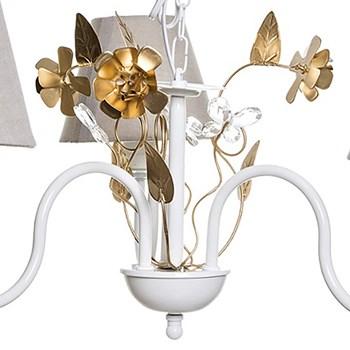 Lustre 3L Floral Dourado