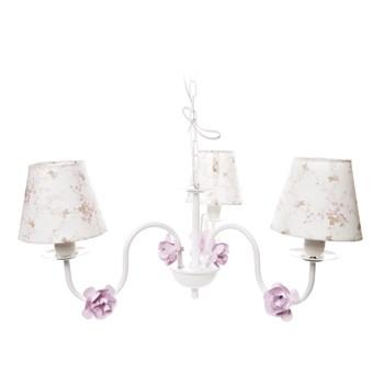 Lustre 3L Simples 6 Flores P Rosa