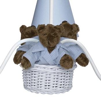 Lustre 3L Toys Escuro Ursinho Azul