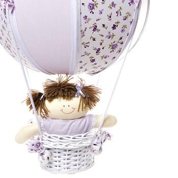 Lustre Balão Bolinha Lilás