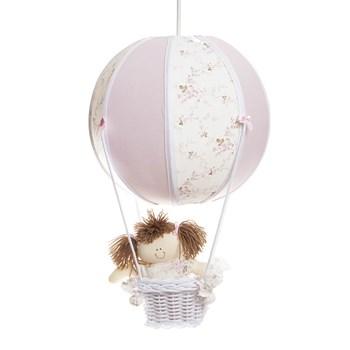 Lustre Balão Bolinha Rosa