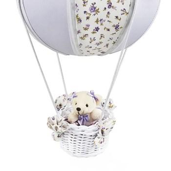 Lustre Balão Bolinha Ursa Lilás