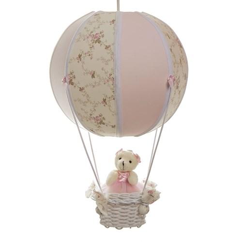 Lustre Balão Bolinha Ursa Rosa