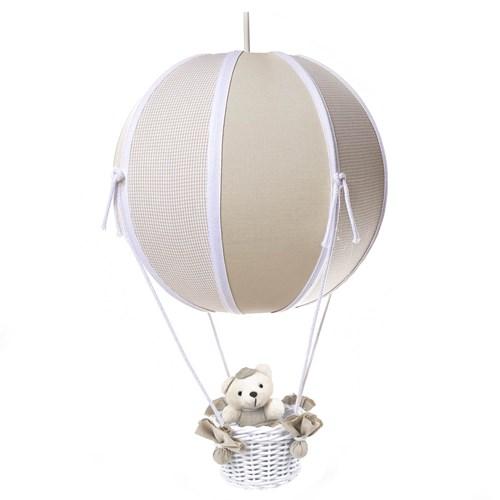 Lustre Balão Bolinha Urso Bege