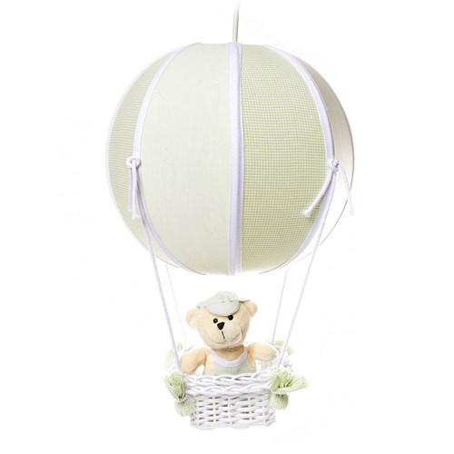 Lustre Balão Bolinha Urso Verde