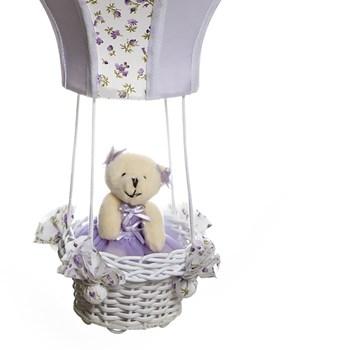 Lustre Balão Cintura Ursa Lilás