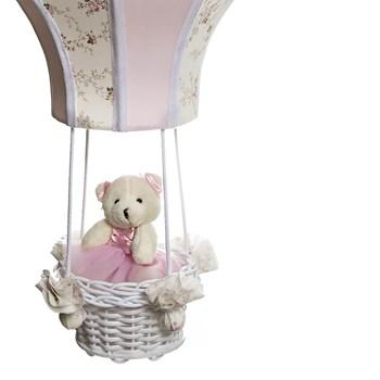 Lustre Balão Cintura Ursa Rosa