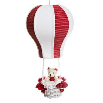 Lustre Balão Cintura Ursa Vermelha