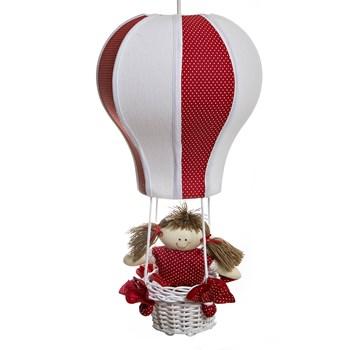 Lustre Balão Cintura Vermelho