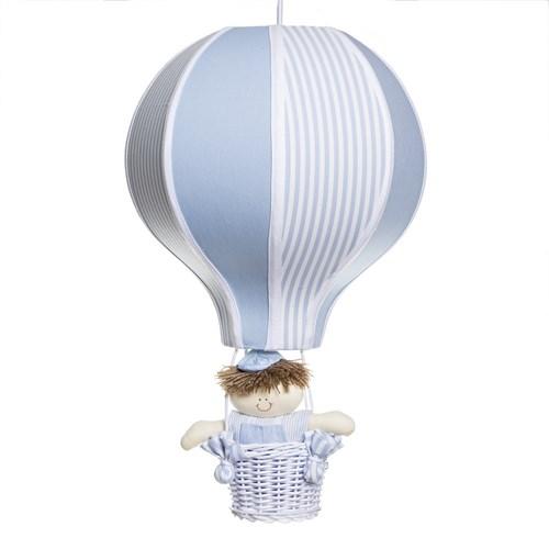 Lustre Balão Grande Azul Com Boneco