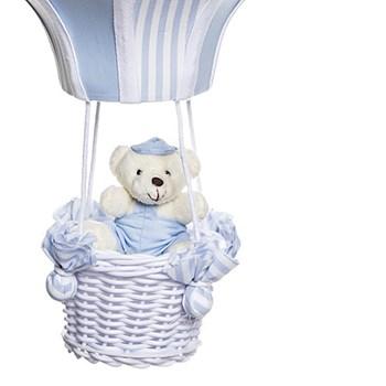 Lustre Balão Grande Azul Com Ursinho